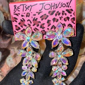 Betsey Johnson AB Earrings